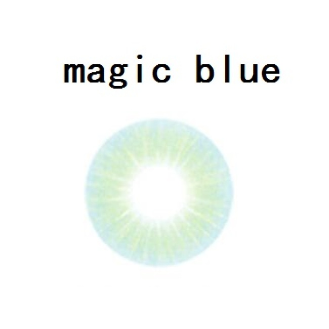 2019 new arrival magic blue contact lens contact lenses hot selling cosmetic soft lens
