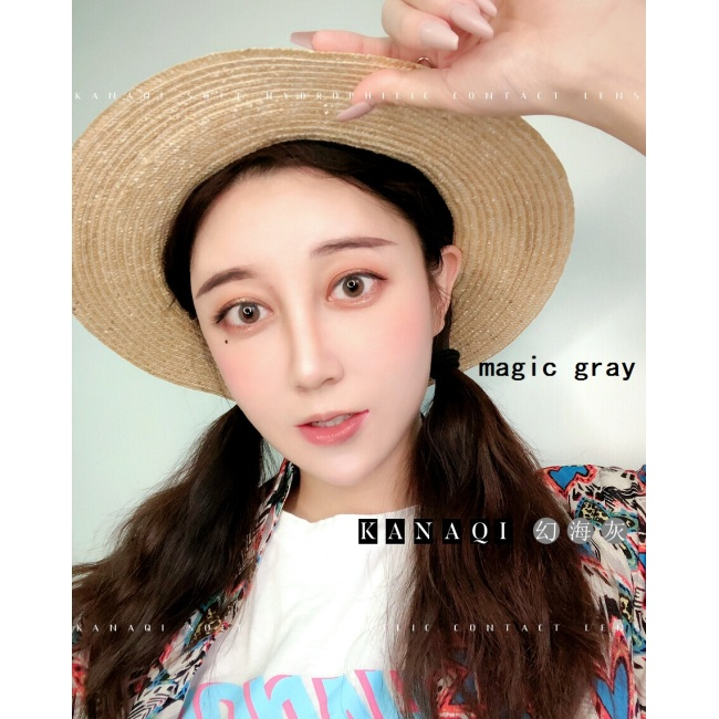 2019 new arrival magic gray grey color contact lens contact lenses hot selling cosmetic soft lens