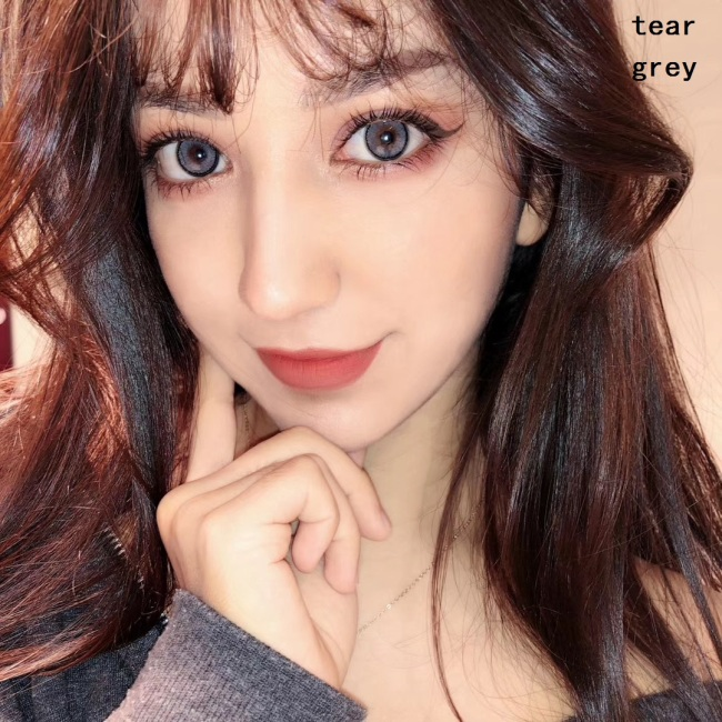 2019 new arrival tear grey gray color contact lens contact lenses hot selling cosmetic soft lens