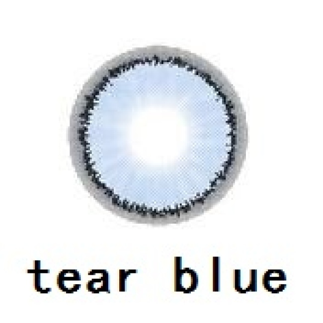 2019 new arrival tear blue color contact lens contact lenses hot selling cosmetic soft lens