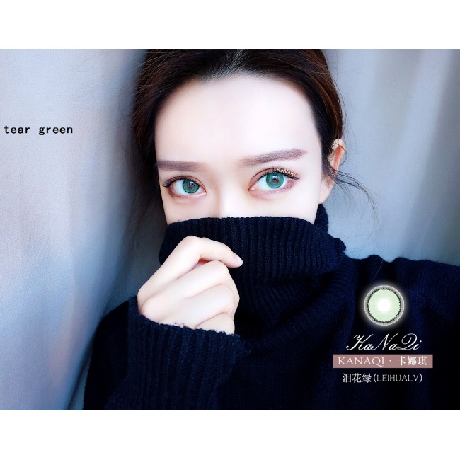 2019 new arrival tear green color contact lens contact lenses hot selling cosmetic soft lens