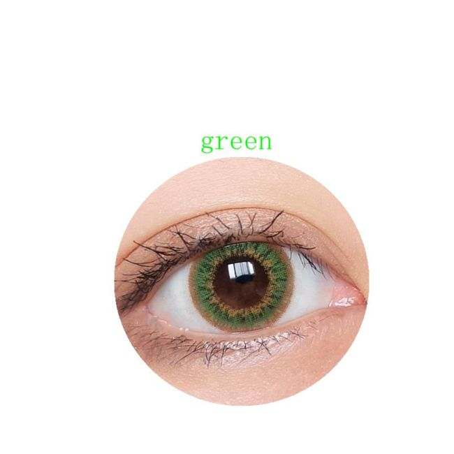 new arrival xiaer green color contact lens contact lenses hot selling cosmetic soft lens