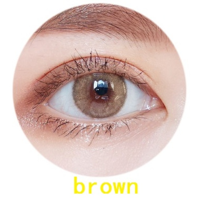 New arrival 2 tone mirage brown  color contact lenses size 14 mm