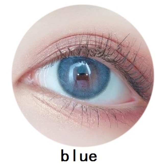 New arrival 2 tone mirage blue contact lens soft color contact lenses 14mm