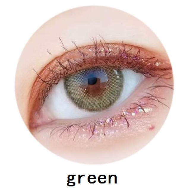New arrival 2 tone mirage green contact lens soft color contact lenses 14mm