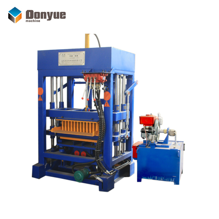 QT4-30 Brick making machine with Diesel power