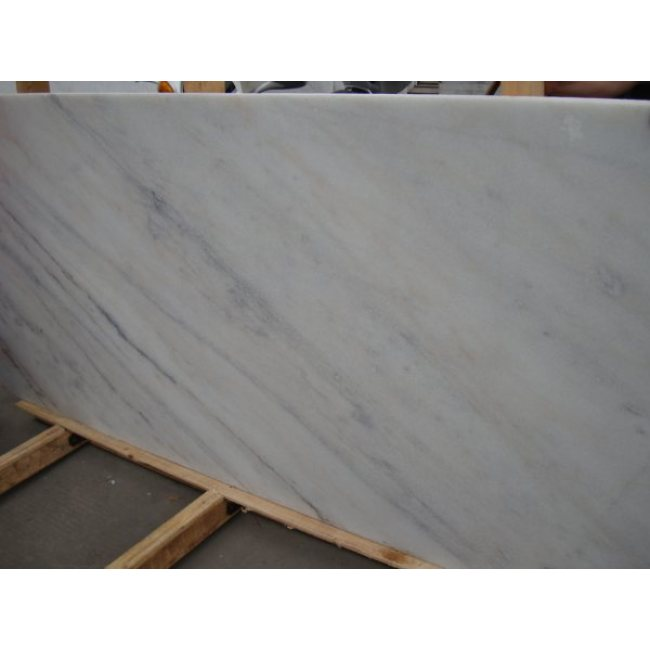 River white marble slabs