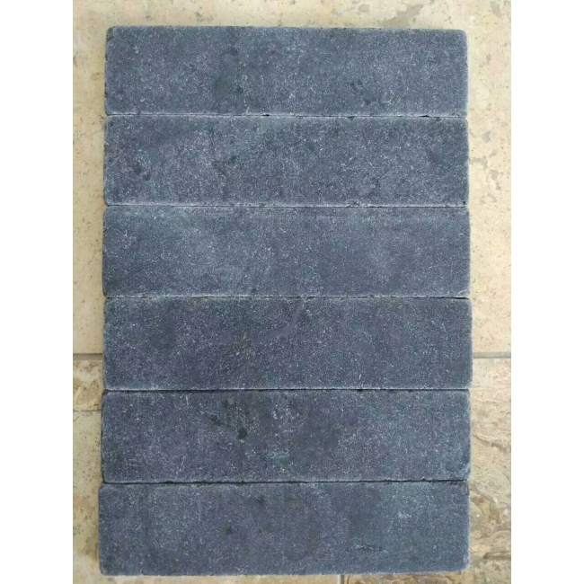 Black basalt stone outdoor  floor tiles