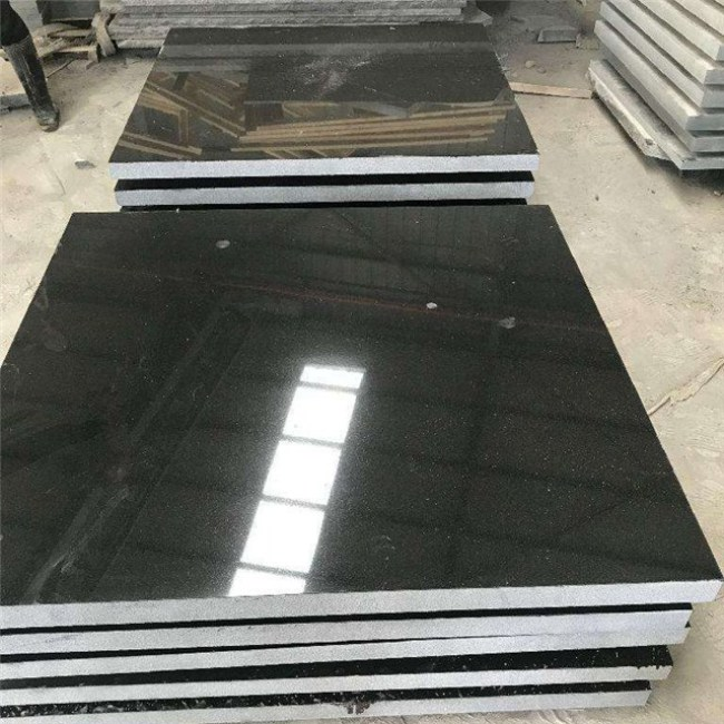 Polished Absolute black  granite tiles  60x60