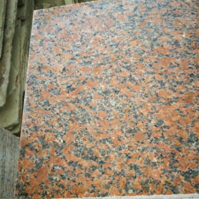 Honed maple red granite  paving tiles