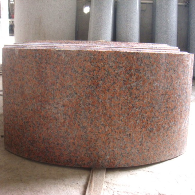 Maple red granite hollow column