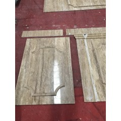 Beige marble square shape hollow column