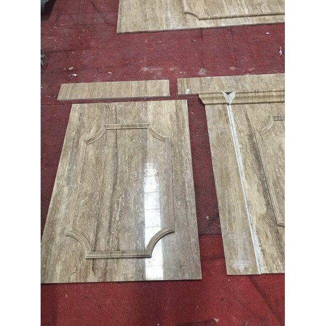 Beige marble square shape hollow column