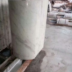 Guangxi white marble hollow column