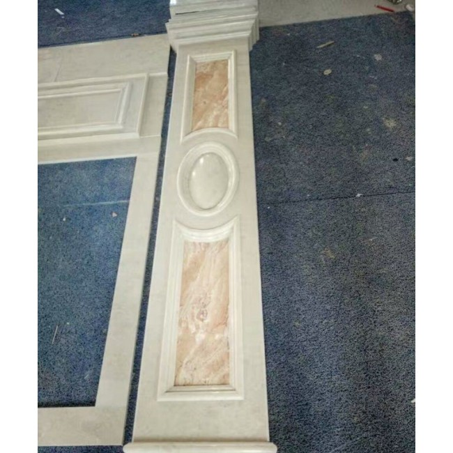 Beige marble door frame for inner decoration