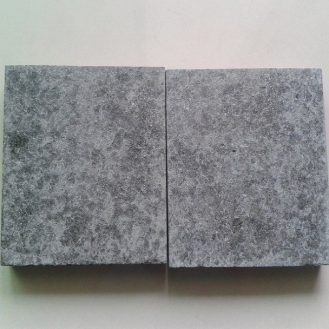 Flamed G684 black granite driveway paving stone