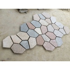 Multicolor  granite crazy paving stone pattern,Ice crack granite
