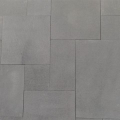 Blue  limestone French Pattern patio paving