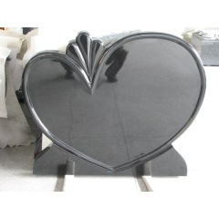 Shanxi Black Heart shape Tombstone