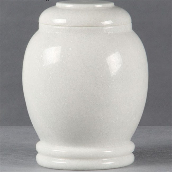 White Marble stone tombstone ash urn