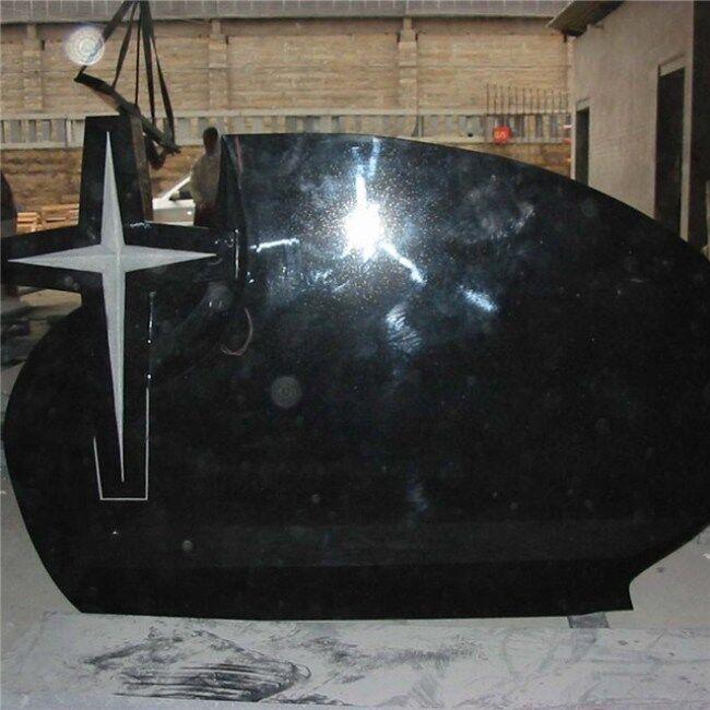 China Absolute Black granite gravestone