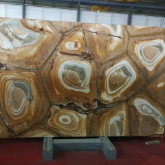 Golden brown  onyx marble slabs
