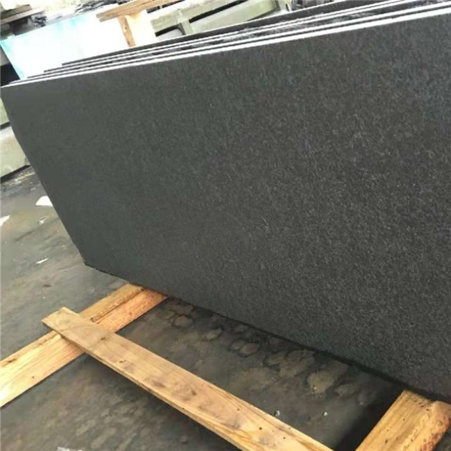 Flamed G684 granite slabs
