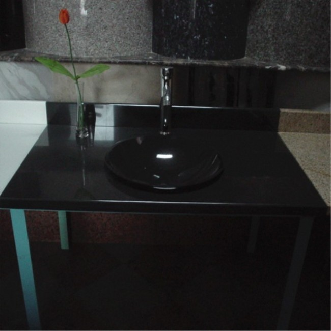 Shanxi black  granite solid stone sink