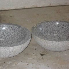 Light grey granite solid stone sink