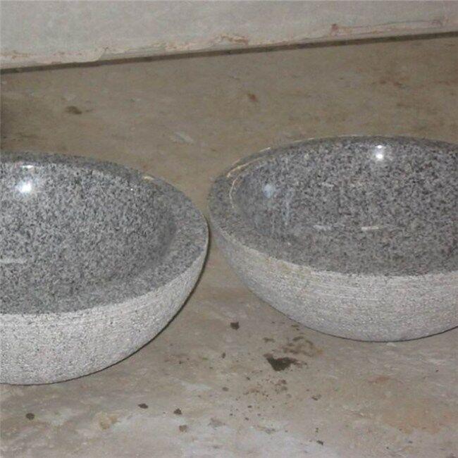 Light grey granite solid stone sink
