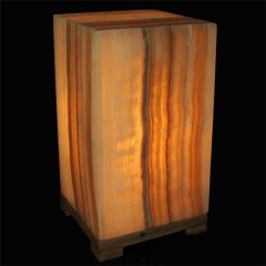 Yellow onyx  rectangle lamp