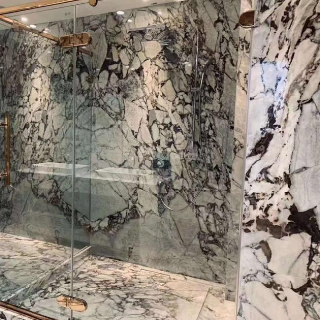 New Arabescato white  Marble bathroom floor tiles wall panels