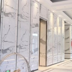 Customized white marble wall paneling marble wall panels
