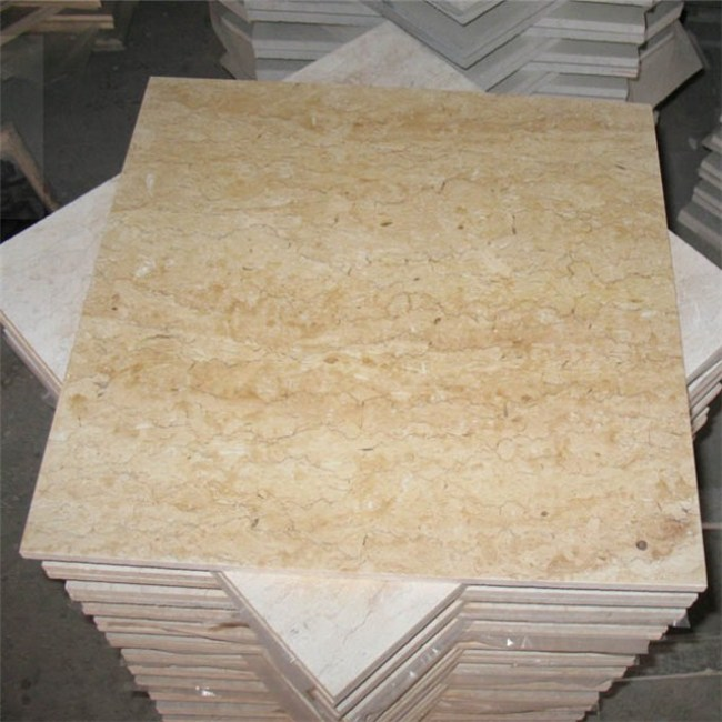 Golden flower beige marble tiles