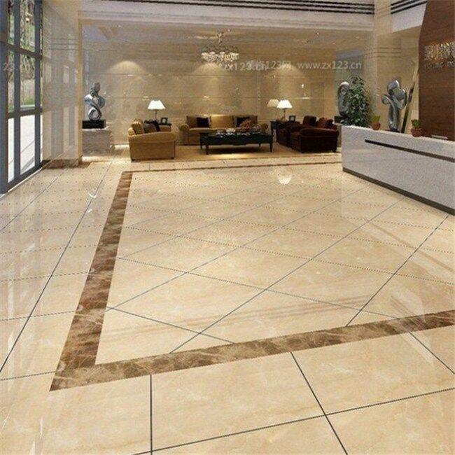 Marble lobby tiles (white marble tiles, beige marble tiles)