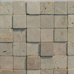 Beige travertine mosaic tiles