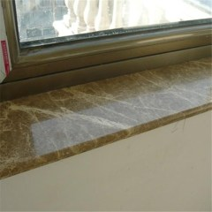 Brown marble window sills