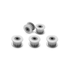 (Pack of 5pcs) Timing Belt Idler Pulley (16Teeth 3mm Bore Aluminum) for 3D Printer 6mm Width Timing Belt by LINGLONG