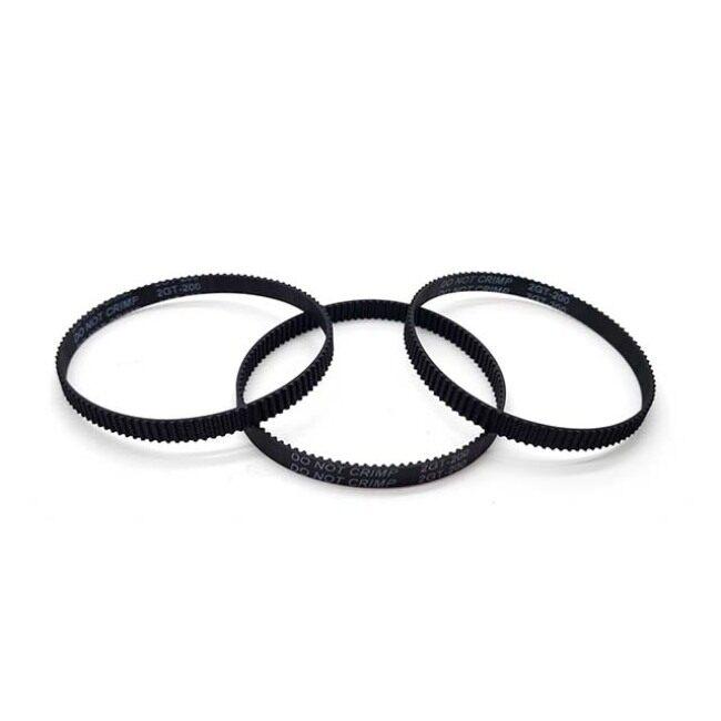 (Pack of 10pcs)3D Printer Timing Belt 2GT-6 Closed Loop Rubber Belt 200mm Width 6mm by LINGLONG(Black)
