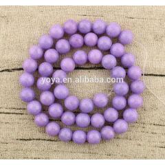 MJ1024 wholesale 8mm smooth lavender Mashan jade round lose beads