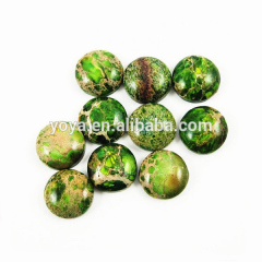 GC1109 Green imperal jasper round cabochons