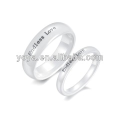 high quality,wide 6mm 3mm ID lovers endless love written tungsten steel ring