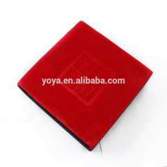 BP1011 Wholesale Chinese style design red paper and velvet bracelet jewelry gift packing box,