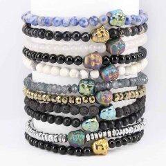 BN5181 Stylish unisex buddha head bracelet,Free style bracelet design simple stone bracelet