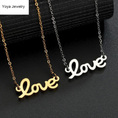 NS1050 HIgh Quality Stainless Steel Dainty Love Charm Necklace