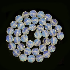 OB0830 Faceted Opalite opal beads,faceted round synthetic opal beads