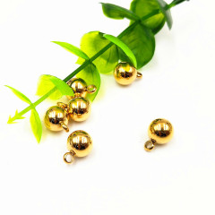 S1167 High Quality Gold Plated Stainless Steel Dangle Drop Ball Bracelet Charms