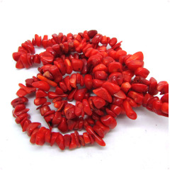 SB6255 Red Coral Freeform Chip Beads,coral tumbled chips