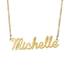 NS1028 HIgh Quality Stainless Steel Letter Word Initial Nameplate Necklace,Personalized Name Planet Necklace