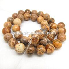 SB6202 Round Picture Jasper Beads,Natural Gemstone Beads, Landscape Jasper Beads